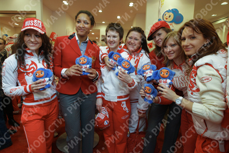 Russian star athletes receive Olympic outfits