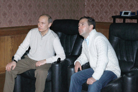 Informal meeting between Medvedev and Putin