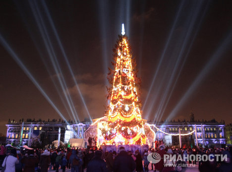 Russian cities on New Year's Eve
