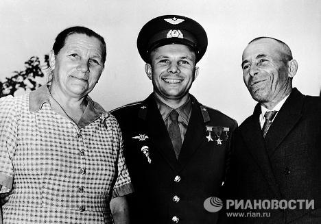 Yury Gagarin and his family