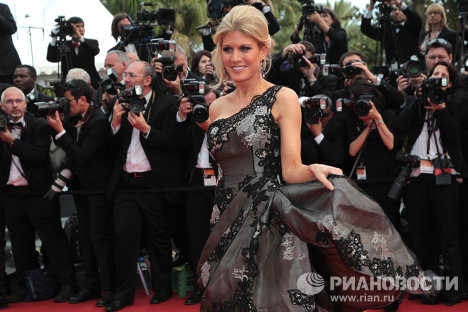 Movie stars on the red carpet at Cannes