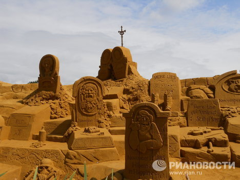 Sand Sculpture Festival in Belgium