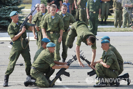 Celebrating Russia's airborne troops