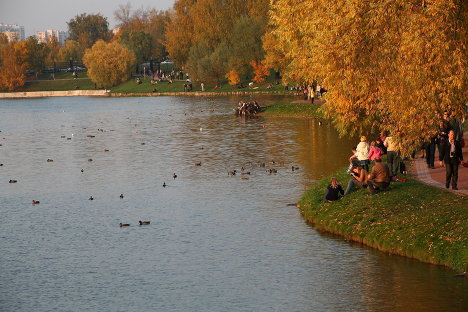 Indian summer in Russian cities