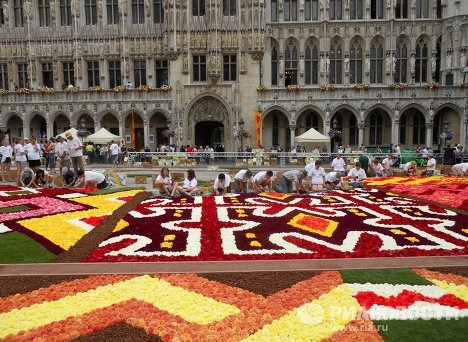 Flower Carpet on Brussels Main Square