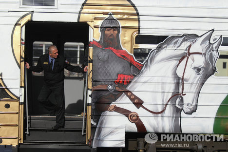 Artists Paint Train to Celebrate Russia's 1,150th Anniversary