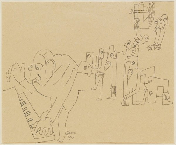 Jean Cocteau's 'Stravinsky at the piano', from 1913.