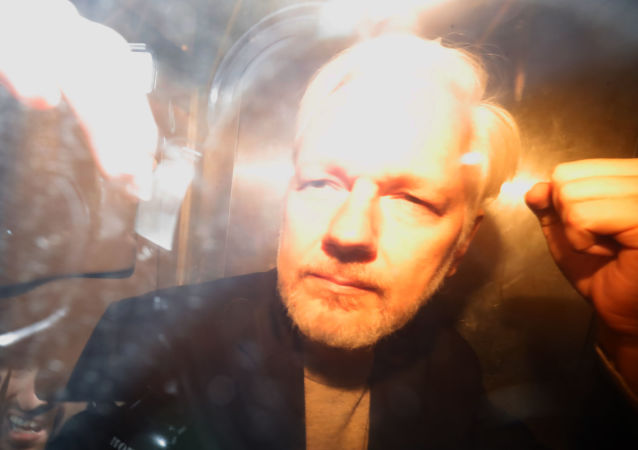 WikiLeaks founder Julian Assange arrives at court in London on May 1, 2019 to be sentenced for bail violation
