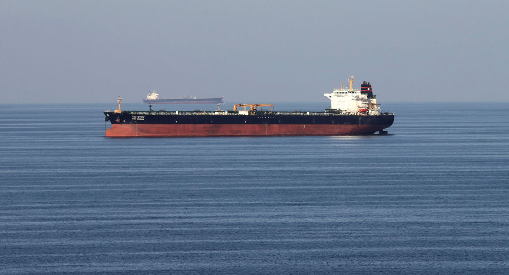 Oil tankers pass through the Strait of Hormuz, December 21, 2018