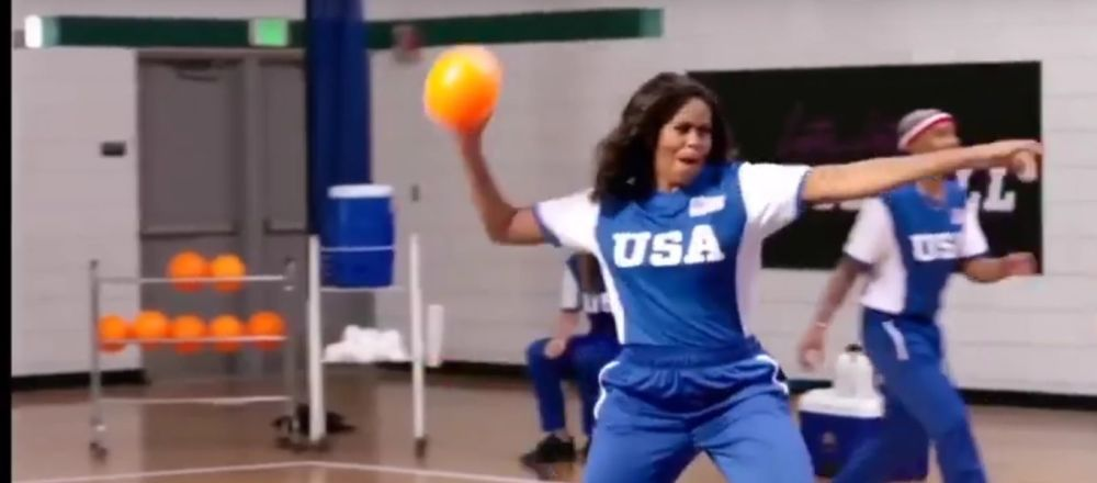 Harry Styles getting hit in the balls by Michelle Obama for 6 minutes straight