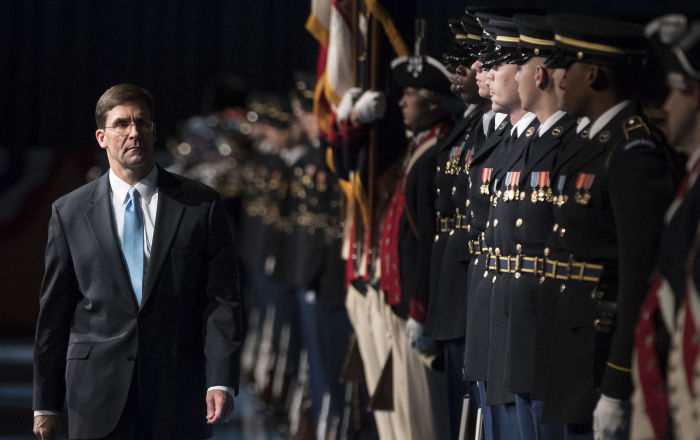 Ex-Army Chief Esper Sworn In as Next US Secretary of Defence