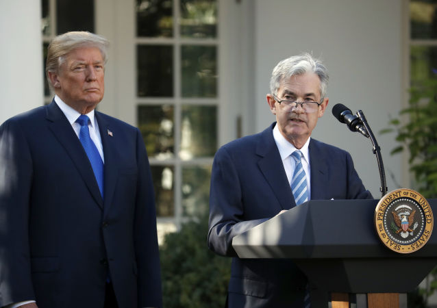 Jerome Powell speaks after President Donald Trump announced him as his nominee for the next chair of the Federal Reserve