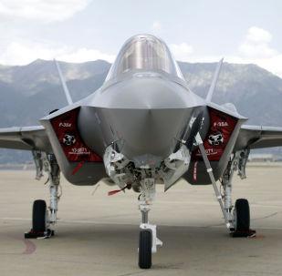 F-35 jet sits on the tarmac (File)