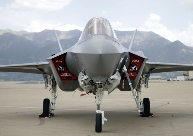 F-35 jet sits on the tarmac (File)