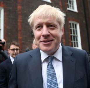 PM hopeful Boris Johnson leaves a building in Westminster, London, Britain, June 26, 2019