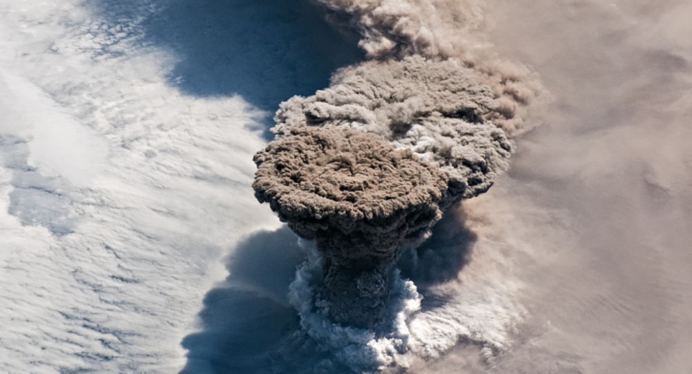 Raikoke Volcano's Eruption Captured from Space