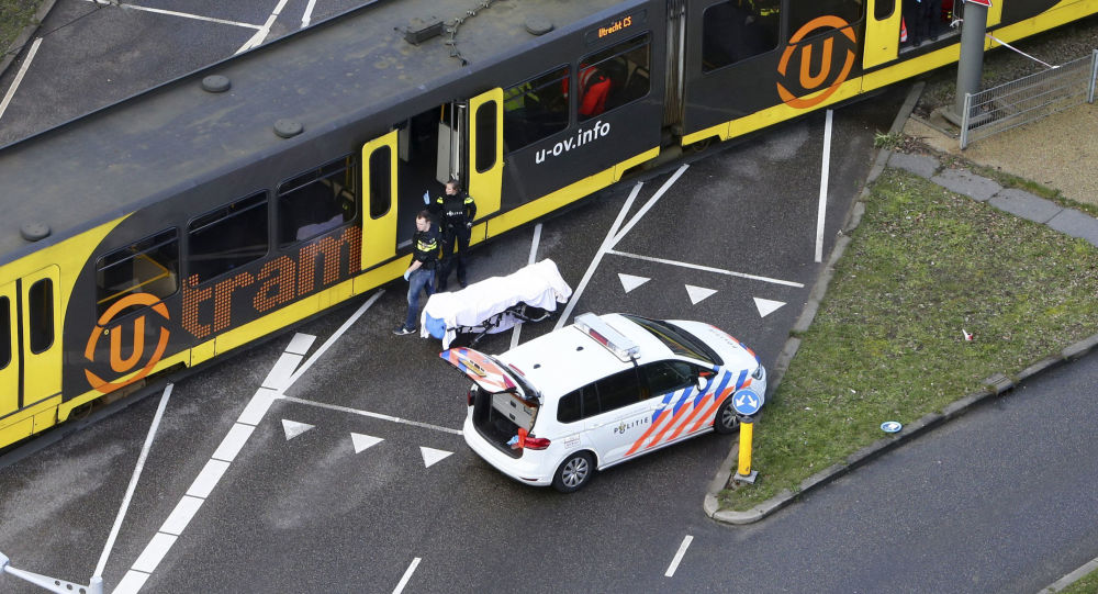 Special Police forces inspect a tram at the 24 Oktoberplace in Utrecht, on March 18, 2019 where a shooting took place. A gunman opened fire on a tram in the Dutch city of Utrecht on March 18, 2019, killing at least one person and wounding several in what officials said was a possible terrorist incident