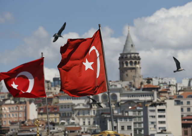 Turkish flags in Istanbul