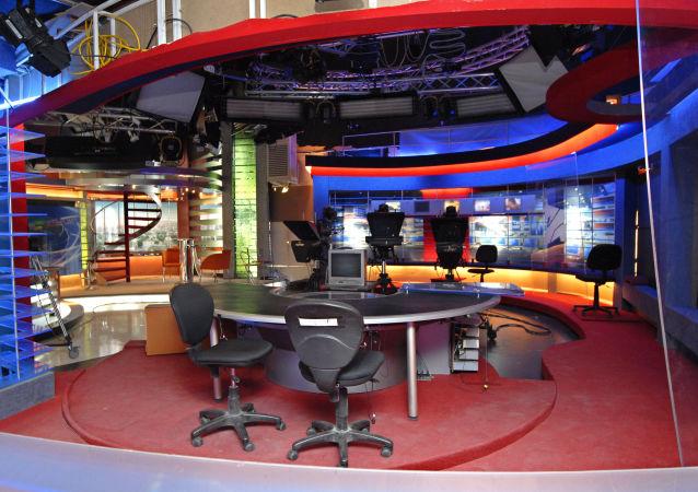 Georgia's Rustavi 2 television station in Tbilisi