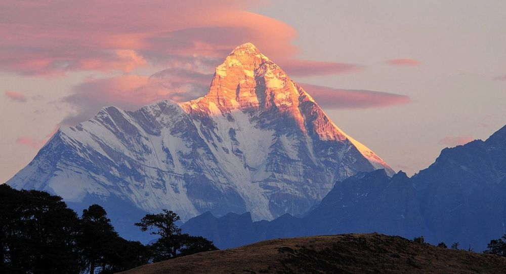 Mt. Nanda Devi at dusk