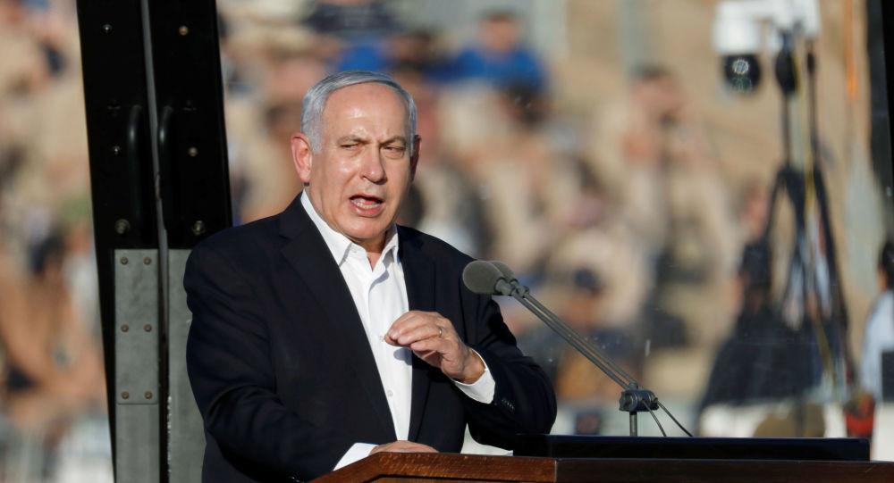 Israeli Prime Minister Benjamin Netanyahu speaks at the Israeli Air Force pilots' graduation ceremony at Hatzerim air base in southern Israel June 27, 2019