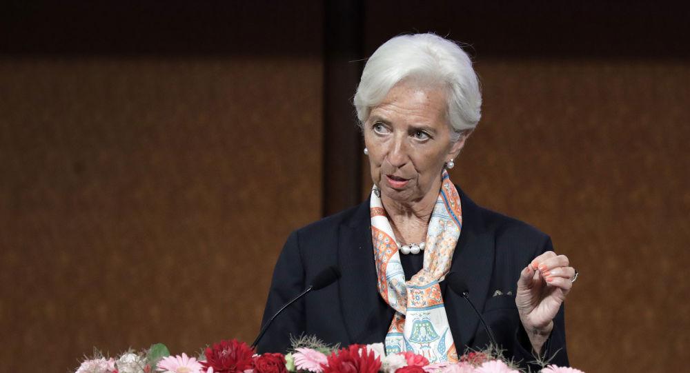 International Monetary Fund (IMF) managing director Christine Lagarde speaks at a G20 high-level seminar on financial innovation
