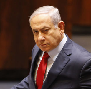 Israeli Prime Minister Benjamin Netanyahu before voting in the Knesset, Israel's parliament in Jerusalem, Wednesday, May 29, 2019