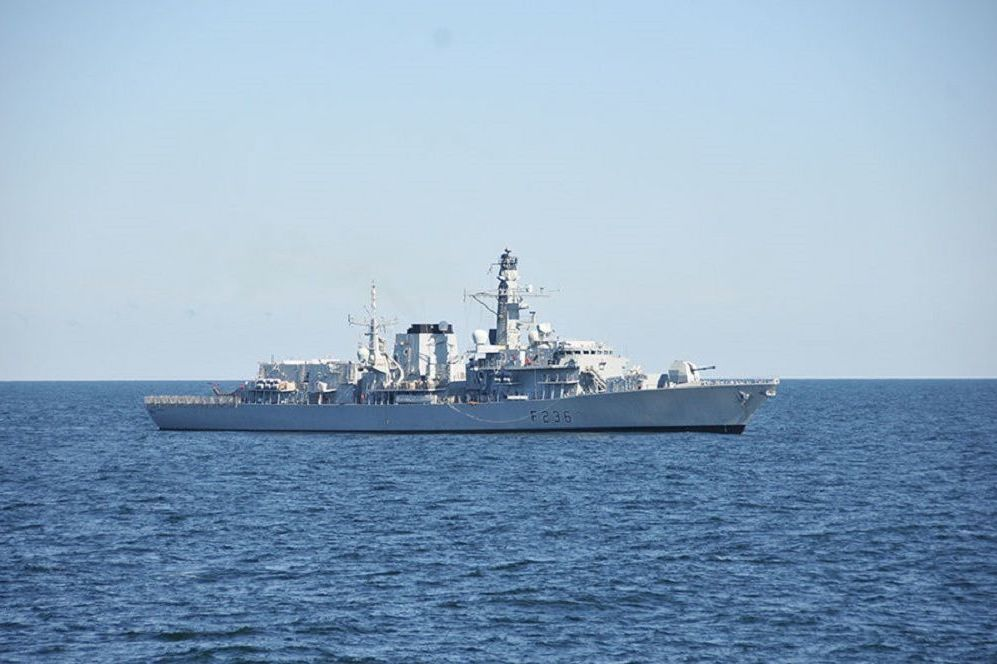 Royal Navy vessel HMS Montrose at sea during Baltic Operations in this photo taken June 15, 2014