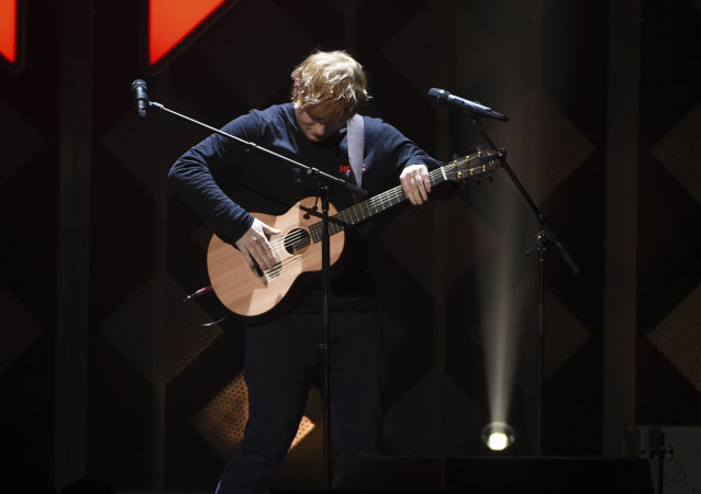 Singer-songwriter Ed Sheeran performs at Z100's iHeartRadio Jingle Ball at Madison Square Garden