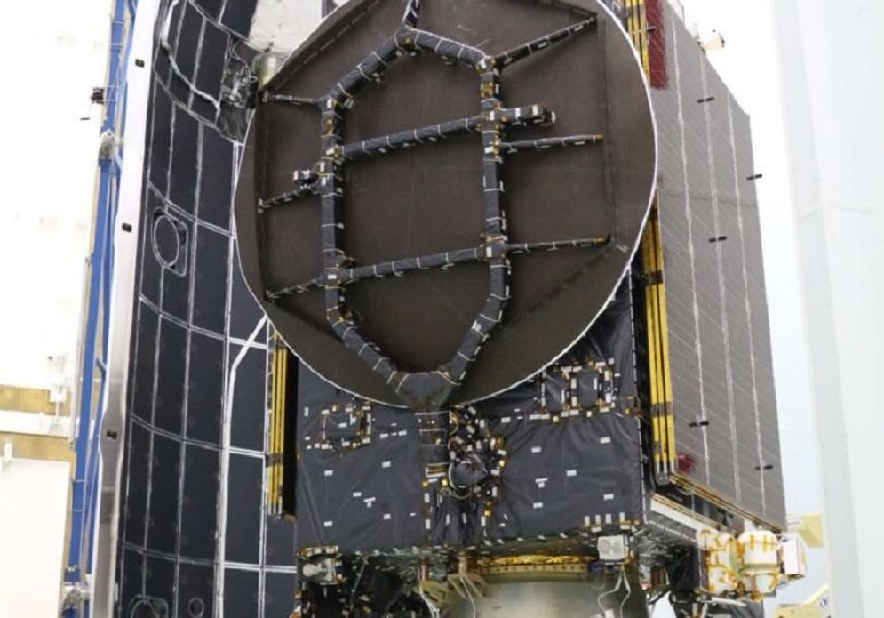 Beresheet is loaded onto its launcher, Falcon-9 before its launch into space Thursday night