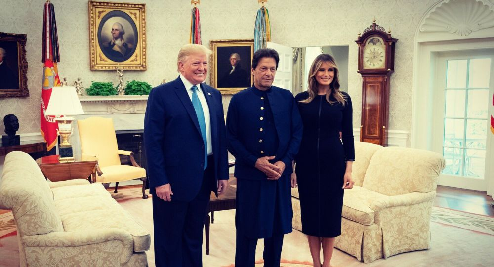 Great to have Prime Minister Imran Khan of Pakistan at the  WhiteHouse  today!