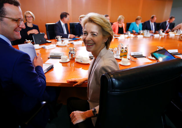 German Defense Minister and Elected European Commission President Ursula von der Leyen attends the cabinet meeting in Berlin, Germany, July 17, 2019.