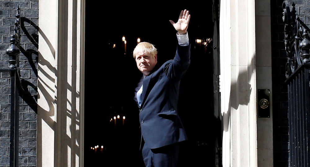 Britain's new Prime Minister, Boris Johnson, enters Downing Street, in London, Britain July 24, 2019
