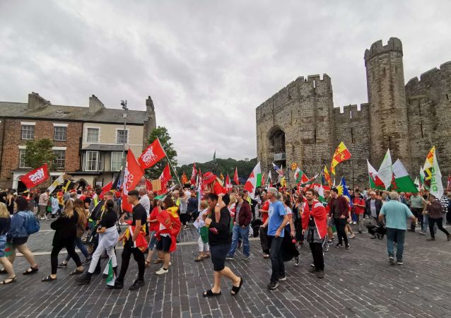 Rally for Independent Wales. Caernarfon, 27 July 2019