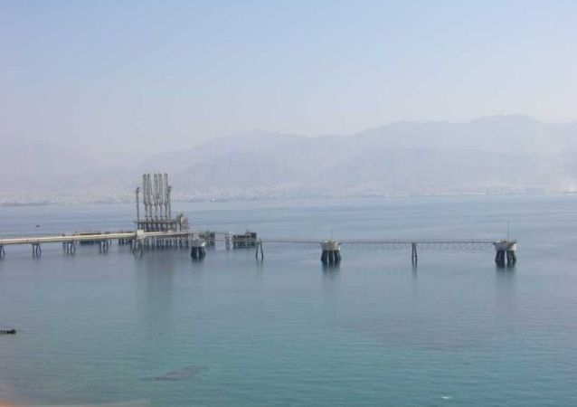 The Eilat-Ashkelon Oil-Pipeline jetty in Eilat