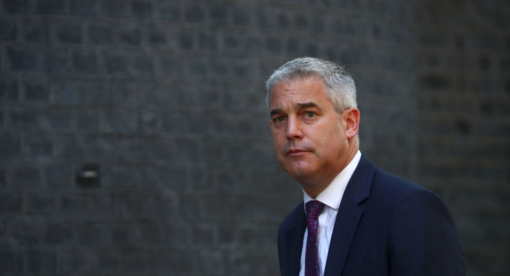 Britain's Secretary of State for Exiting the European Union Stephen Barclay is seen outside Downing Street in London
