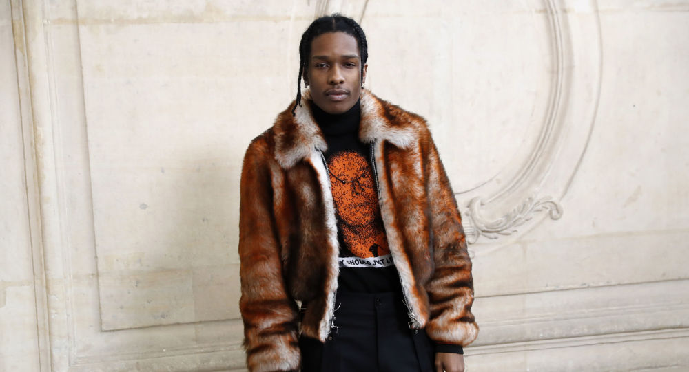 In this file photo taken on January 23, 2017 US rapper ASAP Rocky poses before the Christian Dior 2017 spring/summer Haute Couture collection on January 23, 2017 in Paris. - The Stockholm district court said on August 02, 2019, that US rapper A$AP Rocky should be released from custody, pending the verdict of an assault trial that has garnered global attention and stirred fan outrage