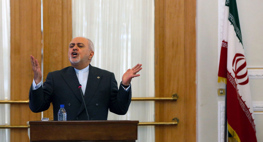 Iranian Foreign Minister Mohammad Javad Zarif speaks during a press conference in the capital Tehran, on August 5, 2019.