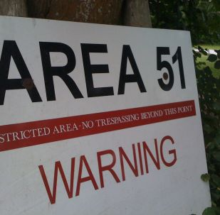 An Area 51 warning sign