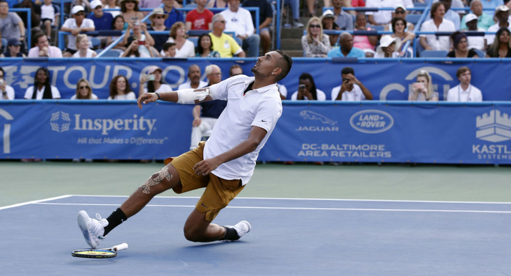 Nick Kyrgios suffers another meltdown during second round of Cincinnati Open