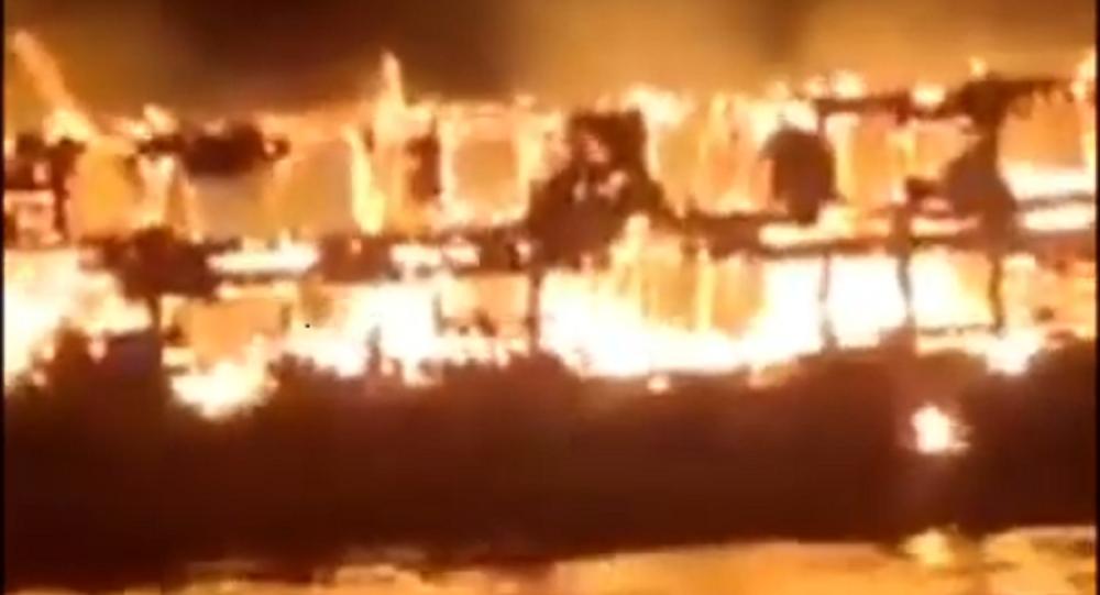 Indonesia ship fire