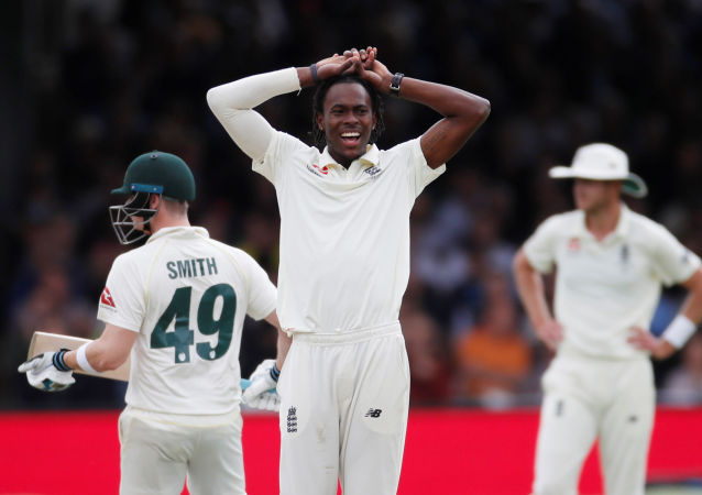 England's Jofra Archer at Ashes 2019 - Second Test