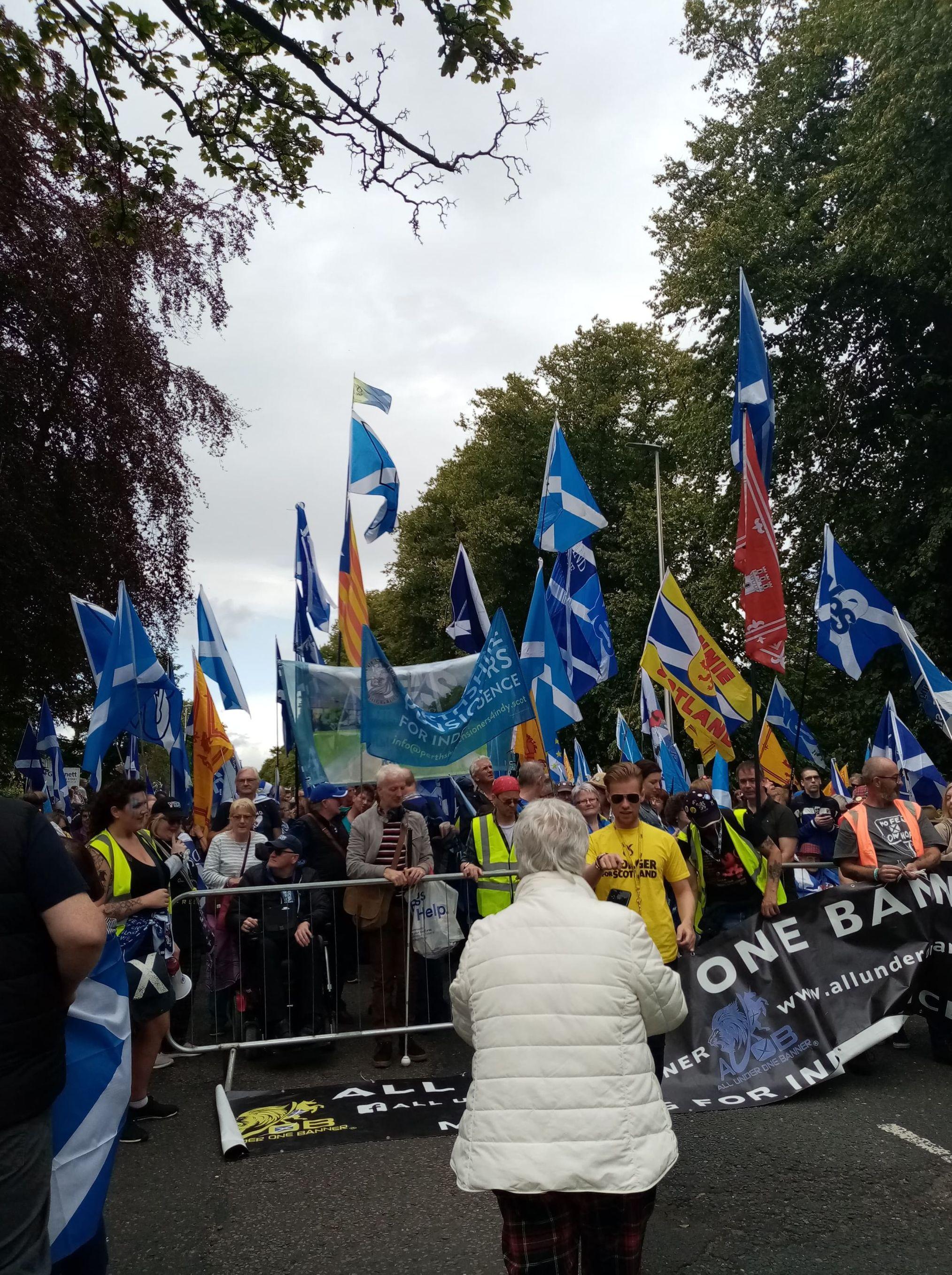 Protest in Aberdeen demanding 2nd Scottish Independence Referendum