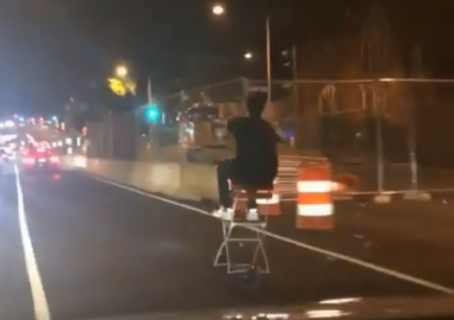 Electric Scooter Enthusiast Takes New Craze to the Next Level