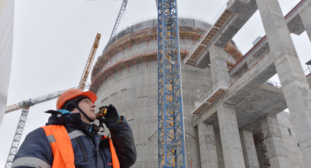 Construction of a nuclear power plant in Astravets, Grodno Region, Belarus