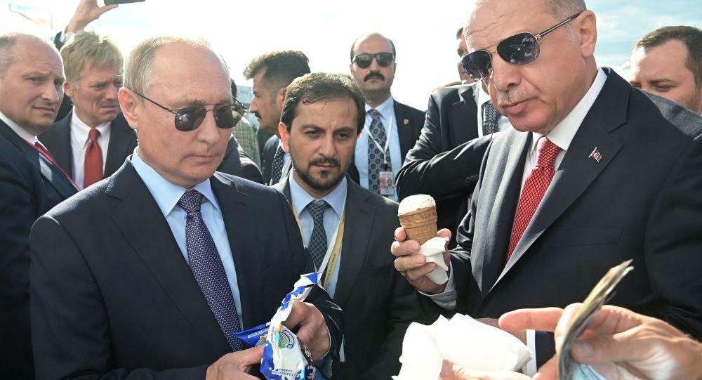 Vladimir Putin Treats Recep Erdogan to Russian Ice Cream