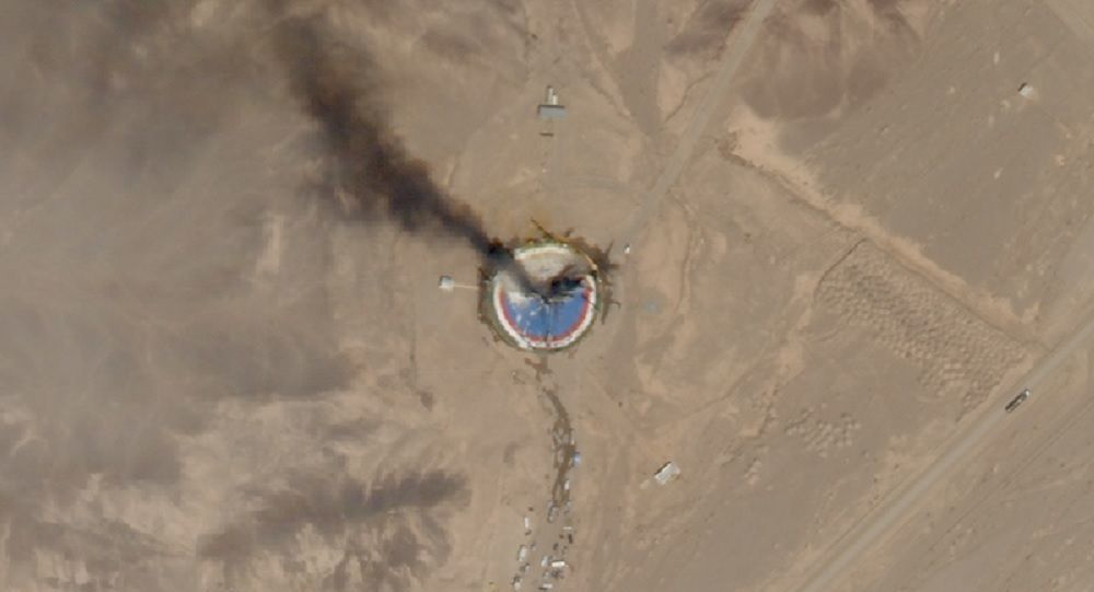 One of Planet's SkySat Earth-observation satellites spotted the wreckage of a failed launch from Iran's Imam Khomeini Space Center on Aug. 29, 2019