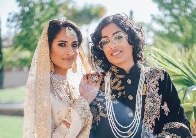India-Pakistan lesbian couple marry in California