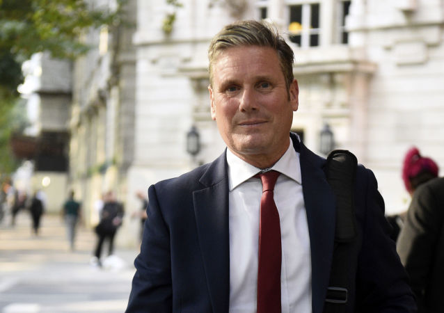 Keir Starmer, Britain's main opposition Labour Party Shadow Secretary of State for Exiting the European Union, in central London, Tuesday Aug. 27, 2019
