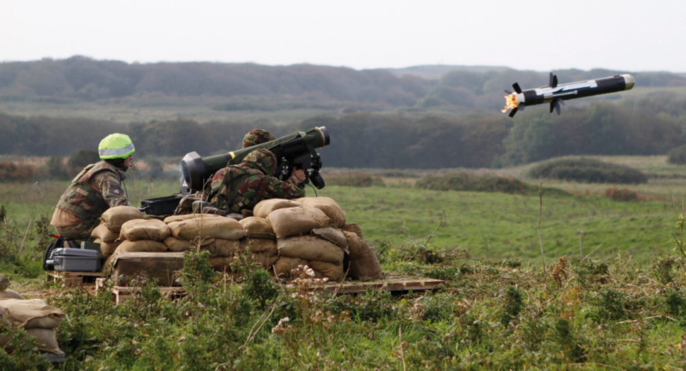 Soldiers from 51 Squadron RAF Regiment fire a Javelin anti tank missile during a training exercise